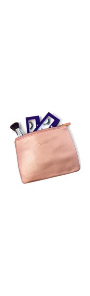 Carousel Cosmetics Rose Gold Makeup Pouch