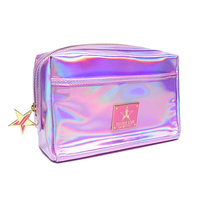 Holographic Pink Makeup Bag