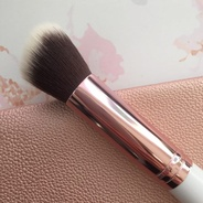 Rose Gold Angled Buffer Brush