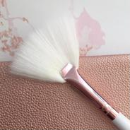 Rose Gold Fan Brush