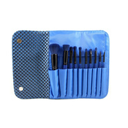 Morphe 695 - 10 Piece Navy Blue Brush Set