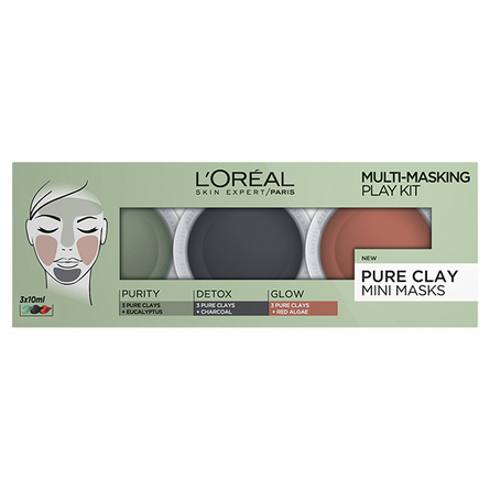 L'Oréal Paris Mini Pure Clay Face Masks