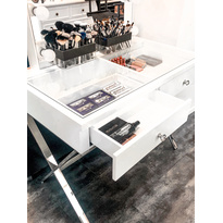 Glamster Studio Makeup Mirror + Studio Table