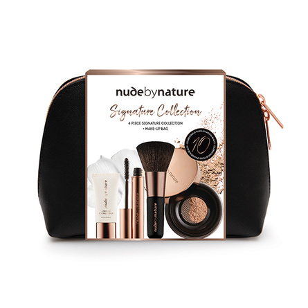 Nude by Nature 4 Piece Signature Collection & Make-up Bag