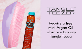 Free mini Argan Oil when you buy a Tangle Teezer