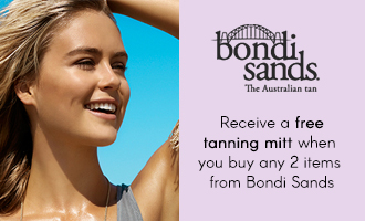 Free mitt when you buy 2 items from Bondi Sands