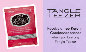 Free Keratin sachet when you buy a Tangle Teezer