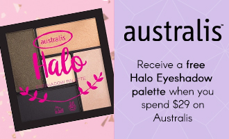 Free gift when you spend $29 on Australis