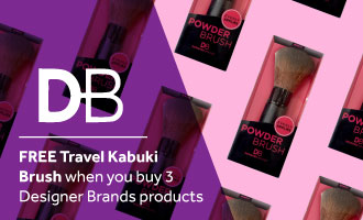 Free gift when you buy 3 Designer Brands products