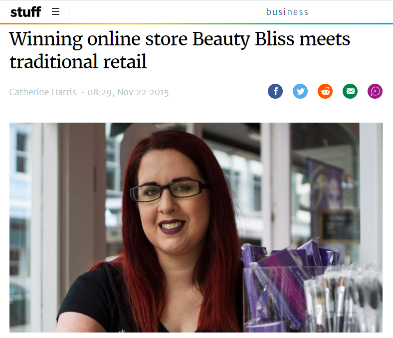 Press: Winning online store Beauty Bliss meets traditional retail